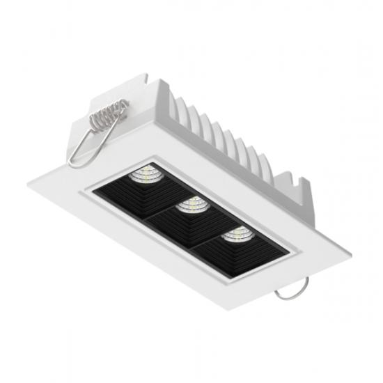 Светодиодный светильникВАРТОН DL-STELLAR встраиваемый поворотный 120x62x45mm 8W 3000K 34° белый