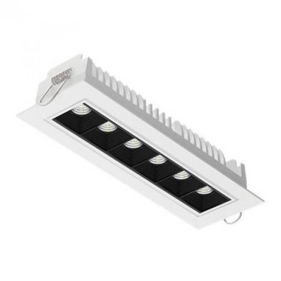 Светодиодный светильникВАРТОН DL-STELLAR встраиваемый поворотный 199x62x45mm 15W 4000K 34° белый