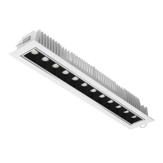 Светодиодный светильникВАРТОН DL-STELLAR встраиваемый поворотный 354x62x45mm 30W 3000K 34° белый